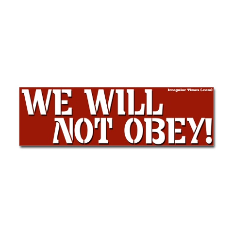 not obey