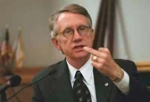 Harry Reid Giver America The Finger With Harry Care-y