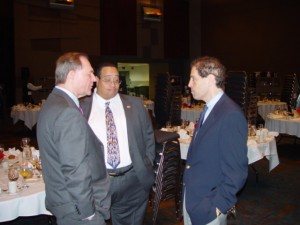 Former Governor Gilmore with Ted Brown and Steve Rossie