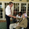 US Senate Candidate Tim Donner speaks to 90 year old Mr. Fullerton for his &#039;Second Wind Wish&#039;