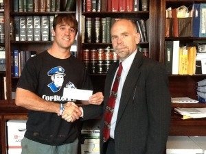 Nathan Cox & Tom Roberts after the $10,000 VCU Settlement.